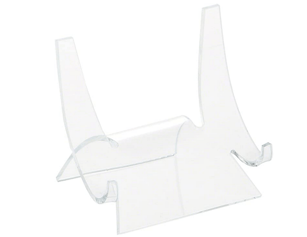 Clear Acrylic Double Scoop Display Easel 3.5H x 3.875W x 3.125D