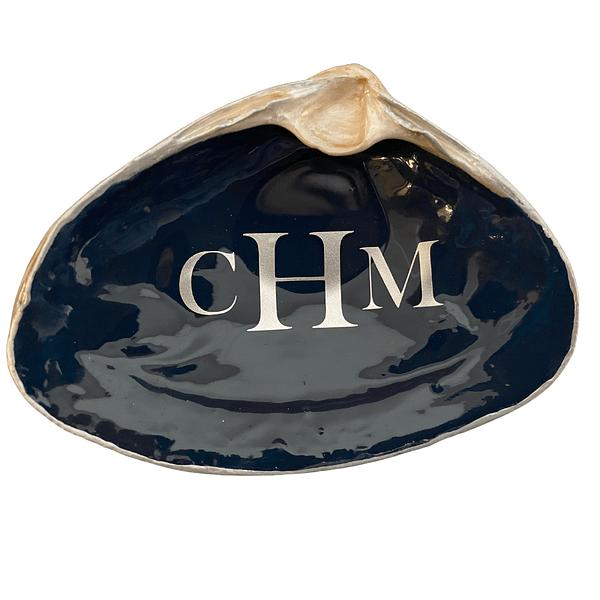 monogram lettering on Black