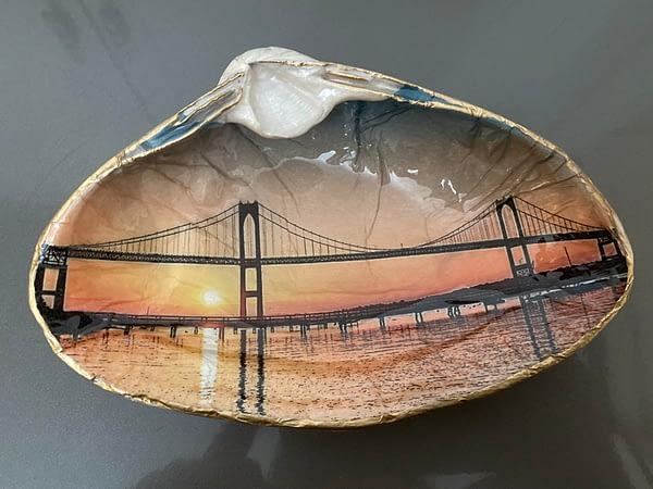 Sunset over Newport Bridge ChrisClineDesign Shell
