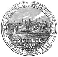 City of Newport RI settled 1639 in Black and White