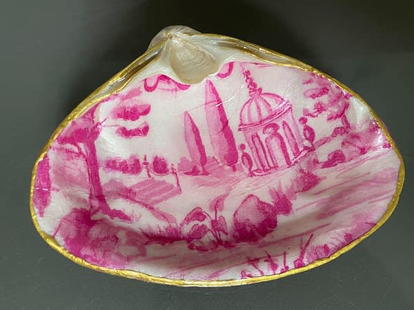 Pink Tuscan Toile ChrisClineDesign shell