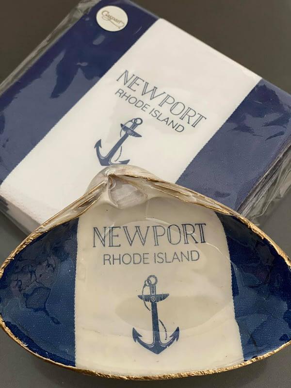 Blue and White Thick Stripe Newport RI ChrisClineDesign