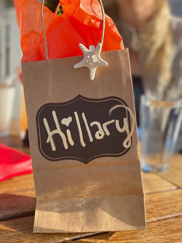 Starfish accessory Chris Cline Design gift bag decoration