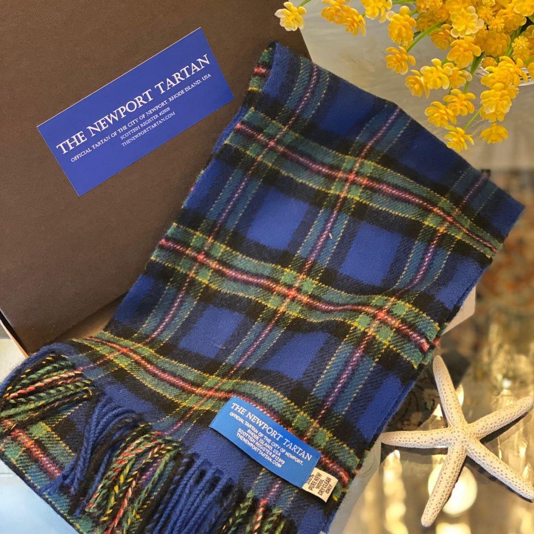 Newport Tartan scarf on Newport Living and Lifestyles