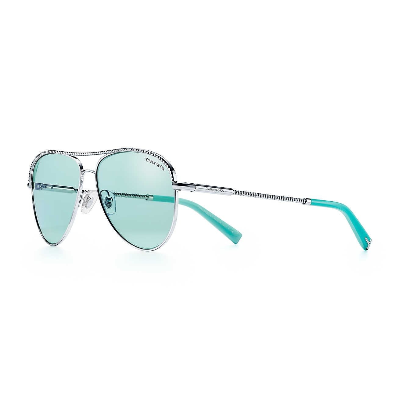 Mothers Day Gift ideas from Newport Living and Lifestyles Tiffany & Co. Pilot Sunglasses in Tiffany blue $340