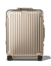 Mothers Day Gift ideas from Newport Living and Lifestyles Rimowa Cabin Plus in Gold $1,170.00