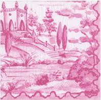 Caspari Tuscan toile berry 15771c ChrisClineDesign